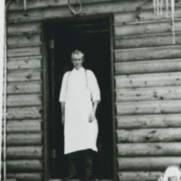 Alex Anderson cooking for P.A. Lumber camp (company)
