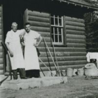 Alex Anderson cooking for P.A. Lumber camp