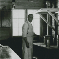 Alex Anderson cooking for Prince Albert Lumber Co.