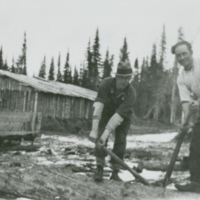 A typical lumber camp