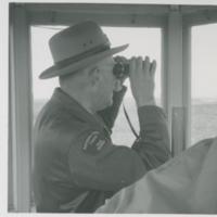 Dean Allan viewing from fire tower