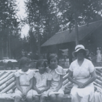 Marjorie Giles, Joan, Molly Cooper, Mrs. W.B. Giles,  1930+