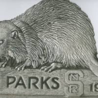 Parks NSR 1934 metal automobile park pass