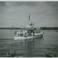 "[Boat ""Shamrock"" on Waskesiu Lake]"