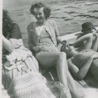 Jean Anderson from Regina - she went around wtih Bob Early for awhile. He is in this picture with the plaid hat on. 1944