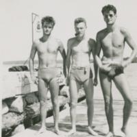 Ken Woods, John Gareau, Keith Woods 1943