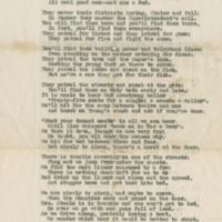 """Warden Service"" poem by P.J. Brodie, Chief Warden at RM in the 40's-50's"