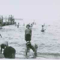 [Children playing in lake]