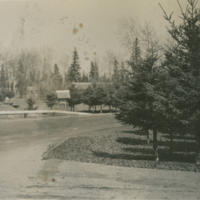 Looking from main street toward children's playground and camp-grounds